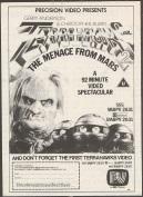 Terrahawks: The Menace From Mars print ad. 1984.